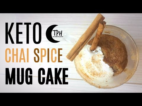 Keto Chai Spice Microwave Mug Cake | Low-Carb Mug Cake Recipe