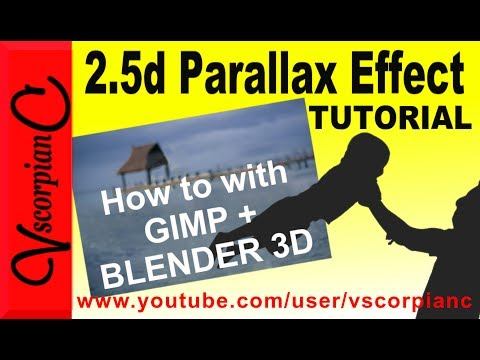 GIMP and Blender Tutorial - How to Make 2.5d Parallax Effect Photo Animation by VscorpianC