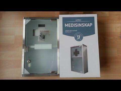 A-Pro Steel Medicine Cabinet with Glassdoor