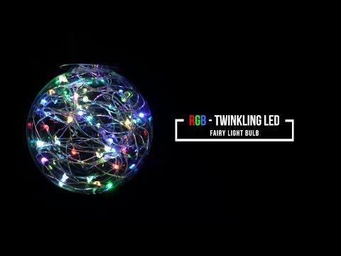 RGB - Twinkling LED Fairy Light Bulb
