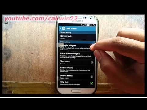 Samsung Galaxy S4 : How to enable multiple widget (Android Kitkat)