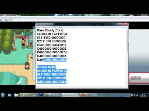 Como colocar Cheats code no Pokemon Soul Silver/Heart Gold