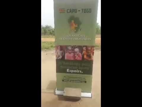 MAFFO LORS DE L'OUVERTURE DU CLUB AFRICAIN DES PETITS DEJEUNER A LOME, TOGO