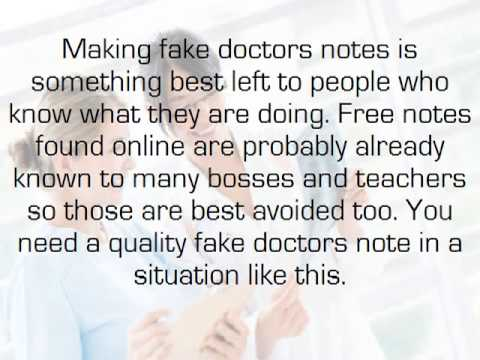 Utilizing a Fake Doctors Note