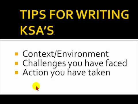 Tips for writing KSA 's Seeking Government Employment