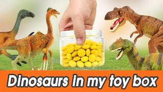 [EN] #56 Dinosaurs in my toy box! kids education, Dinosaurs animation, learn colorㅣCoCosToy