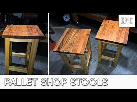 My Next Project:  Pallet Shop Stools