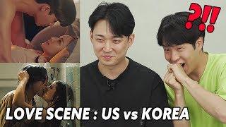 Korean men react to love scene / US vs K-dramas