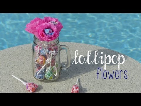 DIY Crafts: How To Make Lollipop Paper Flowers Easy