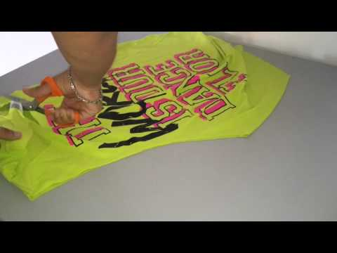 DIY CUTTING T-shirt FOR ZUMBA® CLASS (Spanish)