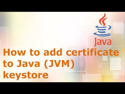 How to add certificate to Java (JVM) keystore