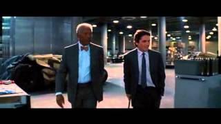 "Lucius Fox le enseña a Bruce Wayne el ""Murcielago"". The Dark Knight  Rises."
