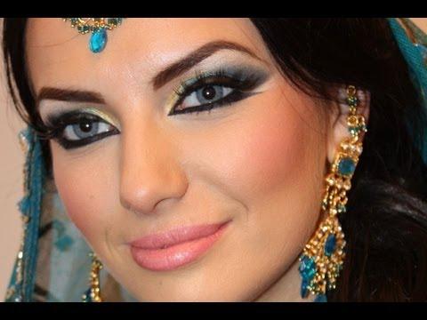 Haifa Wehbe Arabic Makeup Tutorial Blue Smokey Eye هيفاء ...