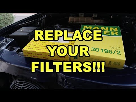 Mercedes-Benz ML320 Air Intake and Cabin Filter Replacement (W163)