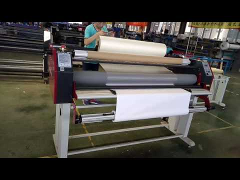 ADL-1600H6+ hot cold laminator with Cutter , Can put the film in machine top
