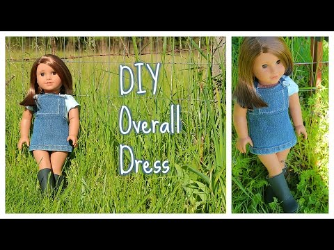 DIY Overall Dress for an AG Doll (super easy!)