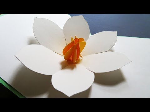 Flower pop up card - how to make an easy greeting card with pop up flower - EzyCraft