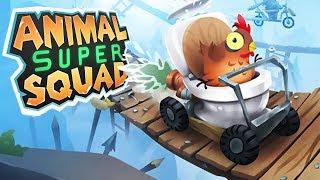 ROCKET TOILET CHICKEN ADVENTURE! - Animal Super Squad Gameplay