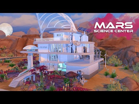 MARS SCIENCE CENTER Sims 4 || Speed Build || Simsbiosis
