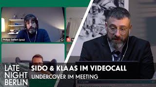 Sido & Klaas hacken Videocall - Undercover im Meeting | Late Night Berlin | ProSieben