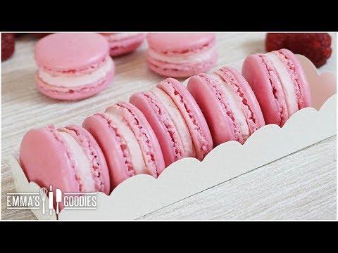 Raspberry Macarons ( French Macaron Recipe + Tips )
