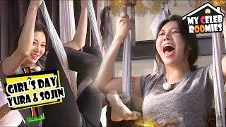 [My Celeb Roomies - YURA & SOJIN] They Challenge To Flying Yoga 20170901