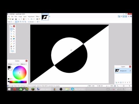 How to make the invert colors pic in paint.net