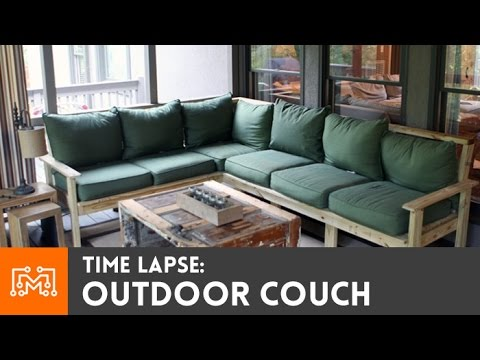 Time-lapse: Outdoor Couch Build