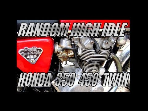 Honda 450 & 350 twin high idle problem
