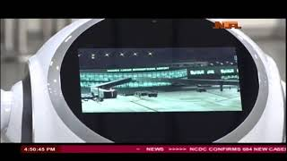 Nigeria deploys robotic machines to airports for the first time.