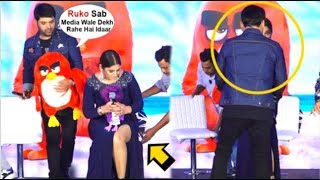 Kapil Sharma SAVES Archana Singh From EMBARRASSING Moment In Front Of Media At Angry Bird Trailer