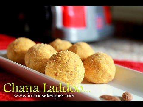 5 minute Chana Ladoo - Hindi with eng subtitles - inHouseRecipes.com
