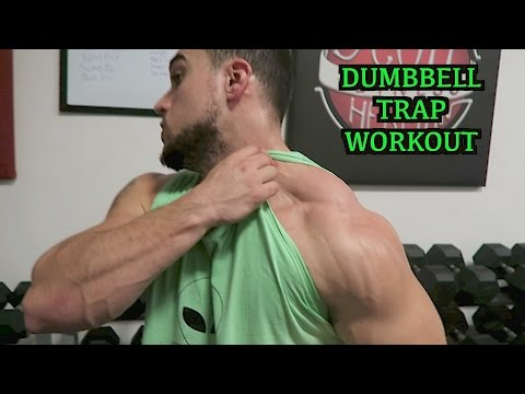 Intense 5 Minute Dumbbell Trap Workout