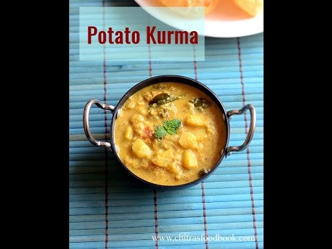 Potato Kurma recipe for Poori - Aloo Kurma for Chapathi, Puri