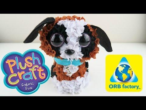 PlushCraft Puppy   DIY PlushCraft Fabric Do It Yourself No Sew Project