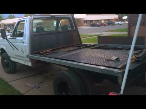 Building A Flat Bed For The Plow Truck