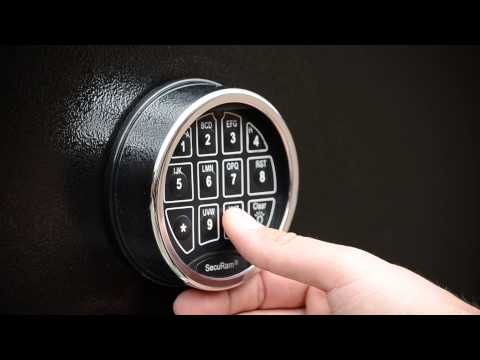 Cannon Safe - FAQs - How do I program my safe code? (SecuRam Keypad)