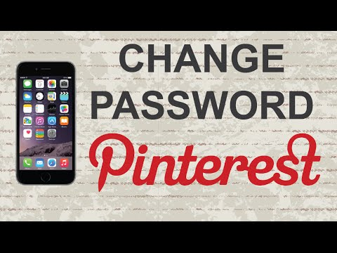 How to change Pinterest password | Mobile App (Android / Iphone)