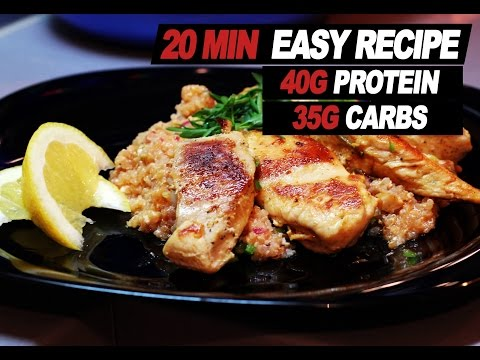 High Protein   Low  Carb Bodybuilding Meal Chicken With Quinoa