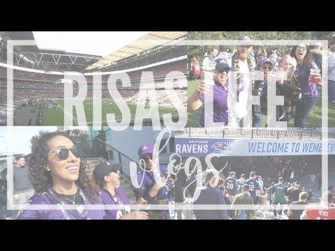 Europe Vlog - Day 02 - Ravens Game in Wembley Stadium!  | RisasRizos