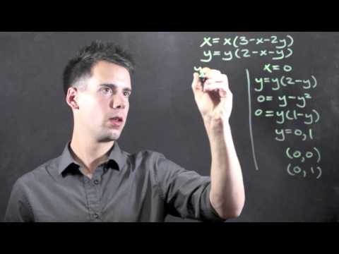 How to Find Fixed Points for a Differential Equation : Math & Physics Lessons