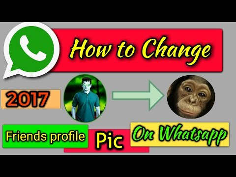 how to change friends whatsapp profile picture