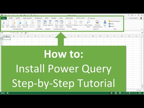 How to Install Power Query in Excel 2010 or 2013 for Windows