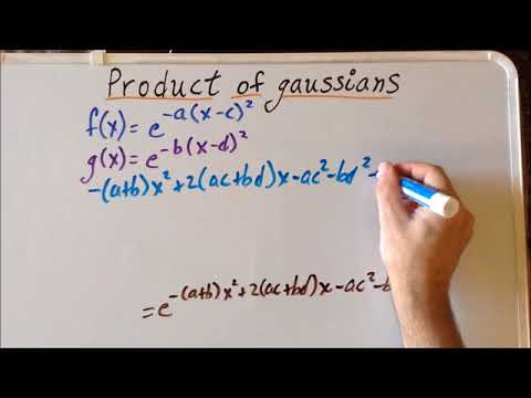 Gaussian function product proof