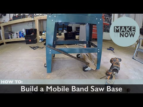 How To: Build a Mobile Band Saw Base