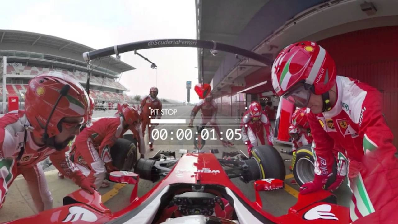 360° video with Scuderia Ferrari - Pit-stop
