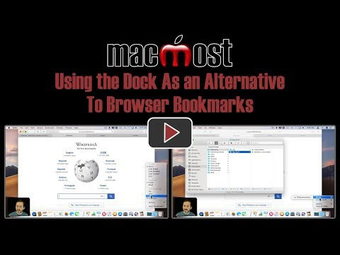 Using the Dock As an Alternative To Browser Bookmarks (MacMost #1825)