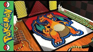"""Charizard """"Pokemon of the Month"""" (IN 16,680 DOMINOES!)"""