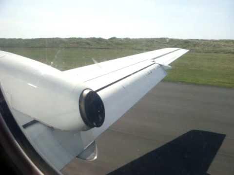 Landing at Sumburgh Airport, Shetland Islands, Flybe Saab 340