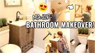 SMALL BATHROOM MAKEOVER!!😍 BEFORE & AFTER OF OUR ARIZONA FIXER UPPER